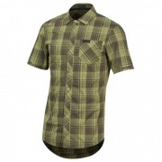 Pearl Izumi - Short Sleeve Button-Up - Maillot vélo taille S, vert olive/gris