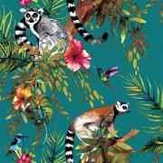 DUTCH WALLCOVERINGS Wallpaper Lemur Green 12402