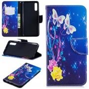 Roos vlinder agenda wallet case hoesje Samsung Galaxy A70