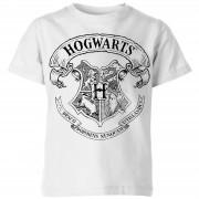 Harry Potter Camiseta Harry Potter Escudo Hogwarts - Niño - Blanco - 11-12 años - Blanco
