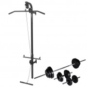 vidaXL falra szerelhető edzőtorony súlyzókészlettel 30,5 kg
