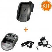Kit Incarcator Power3000 pentru acumulator Canon tip BP-915,BP-925, BP-975 + Bonus adaptor aut