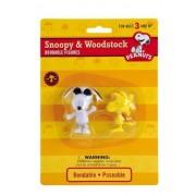 Peanuts Joe Cool Snoopy & Woodstock Bendable Figure Set