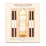 Kit Pentru Contur Si Iluminare Makeup Revolution Creme Highlight And Contour Dark