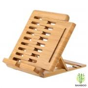 Luxe boekenstandaard van bamboe hout - Boekenhouder voor o.a. tablet, kookboek (als koekboekstandaard in keuken), of boek - Boekensteun, verstelbaar & inklapbaar - Decopatent®