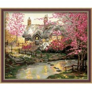 Diy oil painting, paint by number kit- My dream house 16*20 inch.