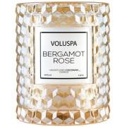 Voluspa Roses Bergamot Rose Boxed Icon Candle W.Cloche Cover (55h)