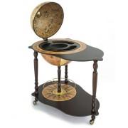 Michelangelo Trolley Table Bar Globe by Zoffoli made in Italy
