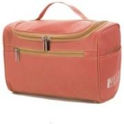 Honestystore Multifunction Zipper Toiletry Bags Travel Organizer Wash Storage Bags Makeup Bags Cosmetic Case – Red Color Waterproof Multipurpose Bag (Red, 8 L)(Red)