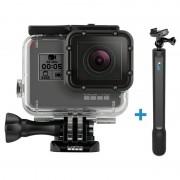 Pachet GoPro HERO6 Black cu carcasa (Uber Protection + Dive Housing) si GoPro Monopied El Grande