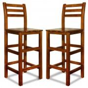 2 Krzesła Hokery Barowe Drewniane - Hoker Kuchnia