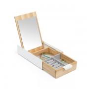 UMBRA Кутия за бижута с огледало REFLEXION - цвят бял, дърво
