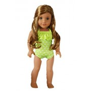 My Brittany's Lime Green Polka Dot Swimsuit for American Girl Dolls- 18 Inch Doll Clothes