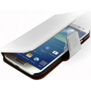 Promate Zimba-S4 Premium Book-Style Flip Leather Case with Card Insert for Samsung Galaxy S4-White Retail Box 1 Year Warranty