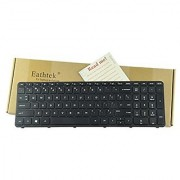 Eathtek Replacement Keyboard with Frame for HP 250 G3 255 G3 256 G3 series Black US Layout Compatible with part# SG-59830-XUA PK1314D2A00 V140502AS1