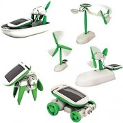 AKSH 6 in 1 Educational Solar Robot Energy Kit Science School Projects For Kids.