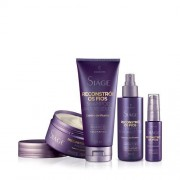 Kit Reconstrói os Fios Eudora: Shampoo + Máscara Capilar + Sérum + Leave In