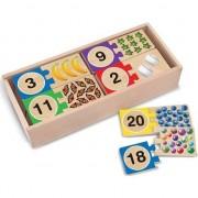 MELISSA Puzzle din lemn numere de potrivire 12542