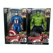 HALO NATION Avengers Toys - Captain America + Hulk - Action Figure