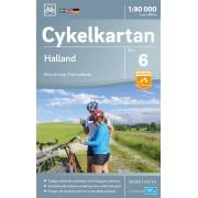 Fietskaart 06 Cykelkartan Halland   Norstedts