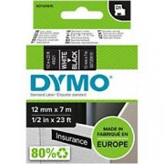 Dymo D1 Labelling Tape 45021 White on Black 12 mm x 7 m
