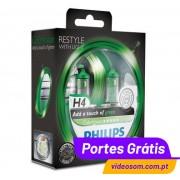 Philips H4 ColorVision Green ( 2 Lâmpadas )