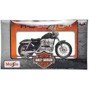 Maisto Harley Davidson 2012 XL1200V Seventy-Two Scale-1:18 Die Cast Toy Motorcycle (Green)