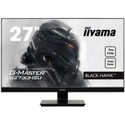 iiyama 27' Gaming, Ultra Slim, G-Master Black Hawk, FreeSync, 1920x1080@75Hz, 300cd/m², >12mln:1 ACR, VGA, DisplayPort, HDMI, 1ms, Speakers, USB-HUB (2x2.0), Black Tuner