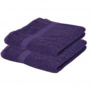 Towelcity 2x Luxe handdoeken paars 50 x 90 cm 550 grams