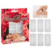 You2Toys [6 Pack] Red Roses Cock Ring Set Transparent 0520055