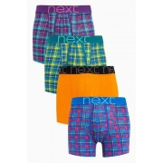 Mens Next Bright Check A-Fronts Four Pack - Multi Check