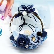 Eeuwige bloem hangend Ornament auto achteruitkijkspiegel hanger romantisch vrouwen Auto auto accessoires Styling auto hanger interieur auto achteruitkijkspiegel Ring ornamenten willekeurige kleur levering