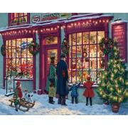 White Mountain Puzzles Christmas Toy Shop Jigsaw Puzzle (1000 Piece)