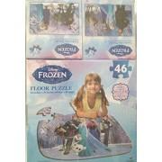 """Disney Frozen Floor Puzzle 24"""" X 36"""" Plus Two Bonus 9""""x 6"""" Lenticular Puzzles"""