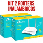 TP-Link Kit 2 Piezas Router Inalambrico 300Mbps 2 Antenas Fijas TL-WR840N V5