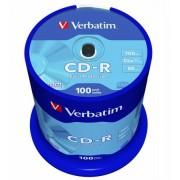 """VERBATIM CD-R lemez, 700MB, 52x, 100 db, hengeren, VERBATIM """"DataLife"""""""