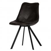 Esstischstühle in Schwarz Kunstleder Metallgestell (2er Set)