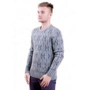 Сив мъжки пуловер