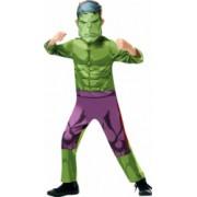 Costum carnaval Hulk pentru copii Avengers War 104 cm 3-4 ani
