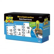 Educational Insights Hot Dots Math Flash Cards More Subtraction