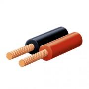 Hangszóróvezeték, piros-fekete, 2x0,5mm, 10m