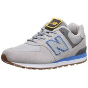 New Balance Boys 574v1 Lace-Up Sneaker, Raincloud/Lapis, 5 B W US Little Kid (4-8 Years)