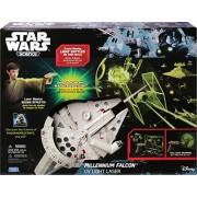 Uncle Milton Star Wars Science Millennium Falcon UV Light Laser, Gray