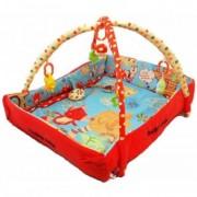 Saltea de Joaca cu Protectii Laterale Happy Baby - Wild Animals