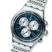 Reloj Swatch YVS410G-Plateado Con Azul