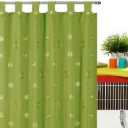 Perdea cada verde din material textil Camelia
