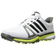 adidas Men s Adipower Boost 2 Golf Cleated FTWR White/Dark Silver Metallics05/Solar Yellow 11 D(M) US