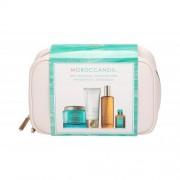 Moroccanoil Body Collection dárková kazeta pro ženy tělový peeling Body Buff 180 ml + krém na ruce 75 ml + tělový olej 100 ml + olej na vlasy Treatment Oil 15 ml + kosmetická taška