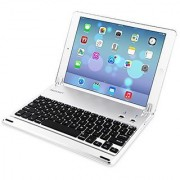 iPad Air 2 Bluetooth Keyboard Cover TeckNet Ultra-Slim Wireless Bluetooth Keyboard (US Keyboard Layout) with Built-in S