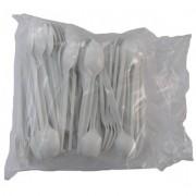 Lingurite din plastic albe 100 bucati / set